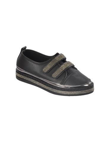 Mhd 2516 Platin Kadın Günlük Ayakkabı Siyah
